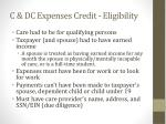c dc expenses credit eligibility