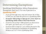 determining exemptions1