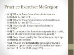 practice exercise mcgregor9