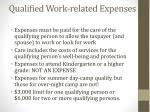 qualified work related expenses