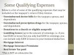 some qualifying expenses