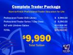 complete trader package start to finish professional trader education for life