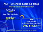 xlt extended learning track interactive daily online instruction