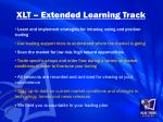 xlt extended learning track1