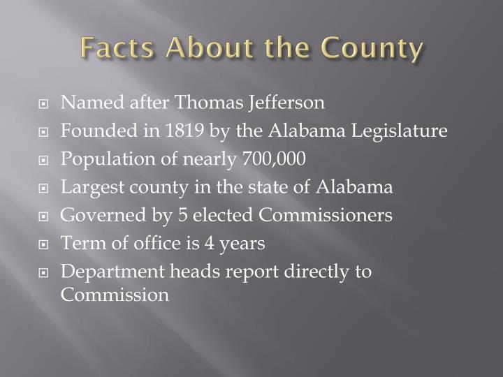 Facts about the county