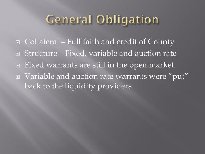 General Obligation