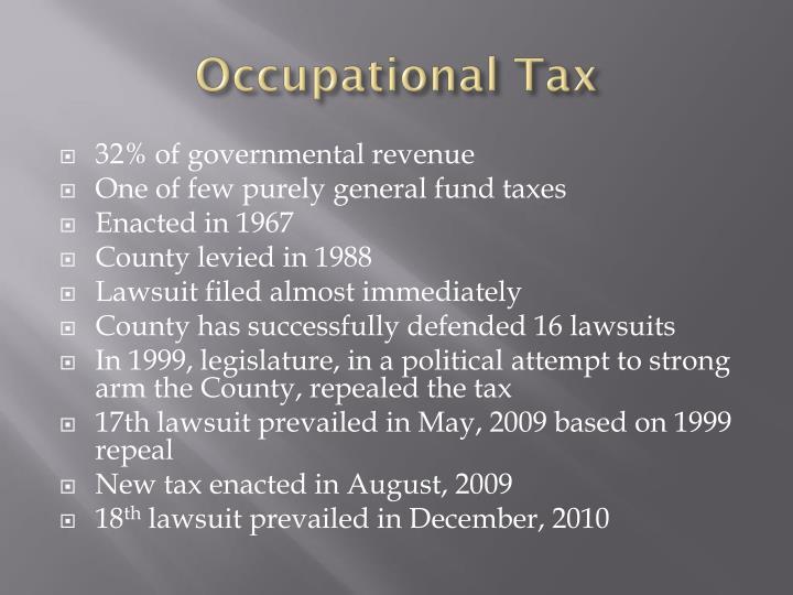 Occupational Tax