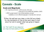 caveats scale