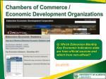 chambers of commerce economic development organizations