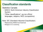 classification standards