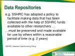 data repositories