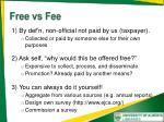 free vs fee