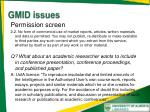 gmid issues
