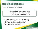 non offical statistics