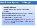 health care system challenges