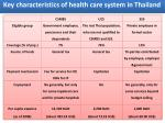 key characteristics of health care system in thailand