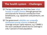 the health system challenges