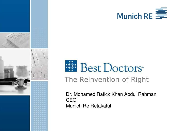 dr mohamed rafick khan abdul rahman ceo munich re retakaful n.