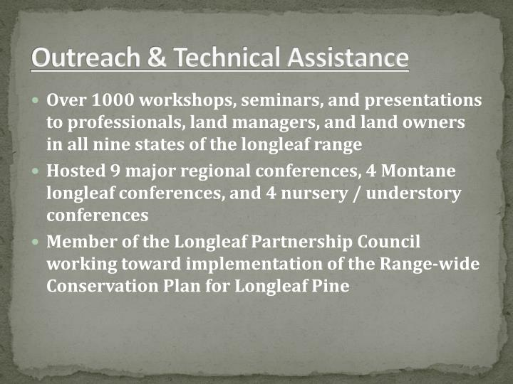 Outreach & Technical Assistance