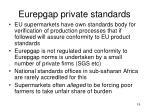 eurepgap private standards