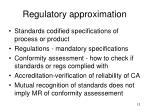 regulatory approximation