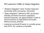 rz lawrence 1996 on deep integration