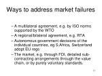 ways to address market failures