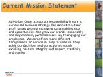 current mission statement