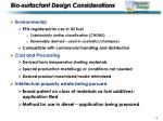 bio surfactant design considerations
