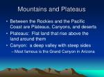 mountains and plateaus1