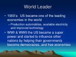 world leader