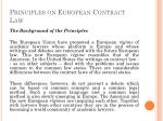 principles on european contract law