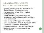 philanthropic projects what s the cost to business