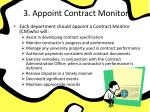 3 appoint contract monitor