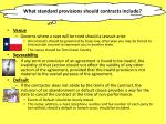 what standard provisions should contracts include2
