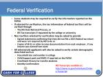 federal verification