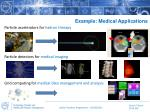 example medical applications