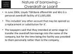 nature of borrowing overdraft or loan2