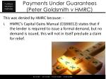 payments under guarantees peter goldsmith v hmrc1
