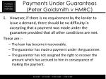 payments under guarantees peter goldsmith v hmrc2