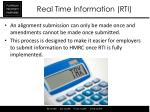 real time information rti10