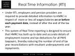 real time information rti2