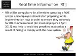 real time information rti5