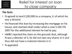 relief for interest on loan to close company1