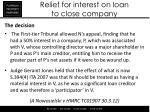 relief for interest on loan to close company2