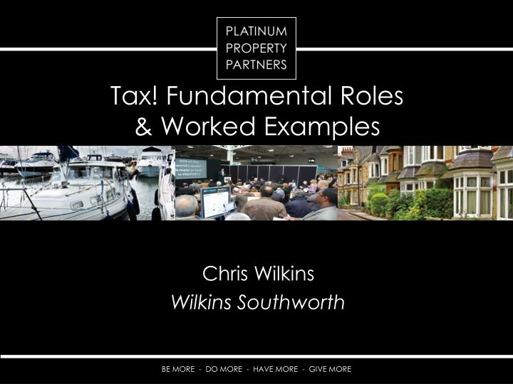 tax fundamental roles worked examples n.