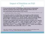 impact of nutrition on pad