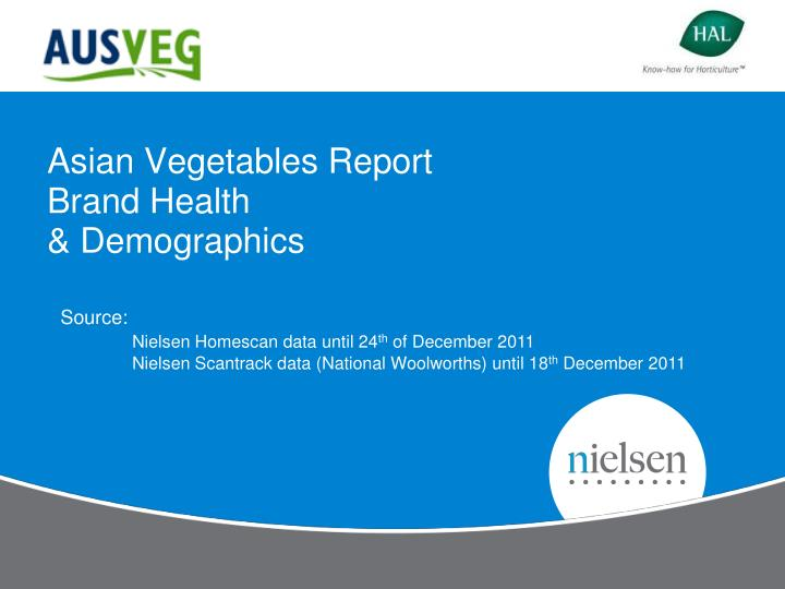 asian vegetables report brand health demographics n.