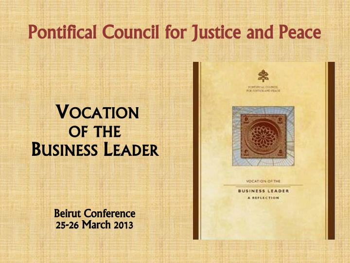 pontifical council for justice and peace n.