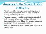 according to the bureau of labor statistics
